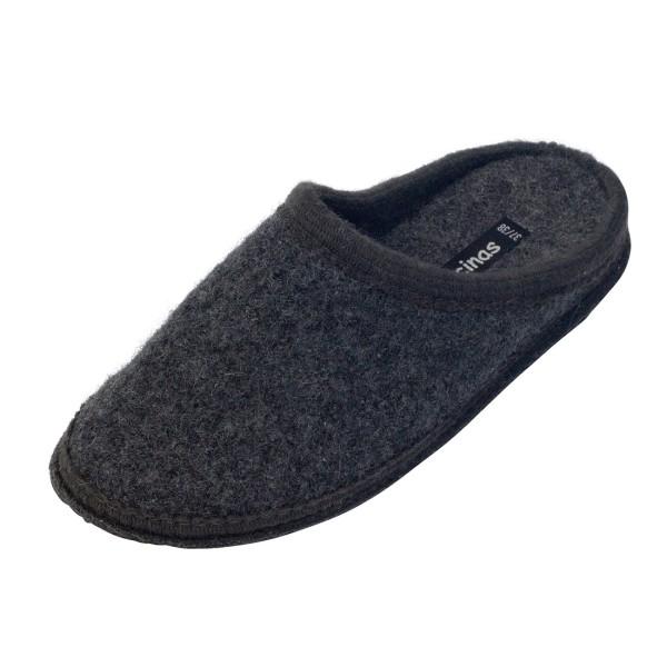 Hausschuhe - Pantoffeln aus gewalkter Schafwolle Anthrazit
