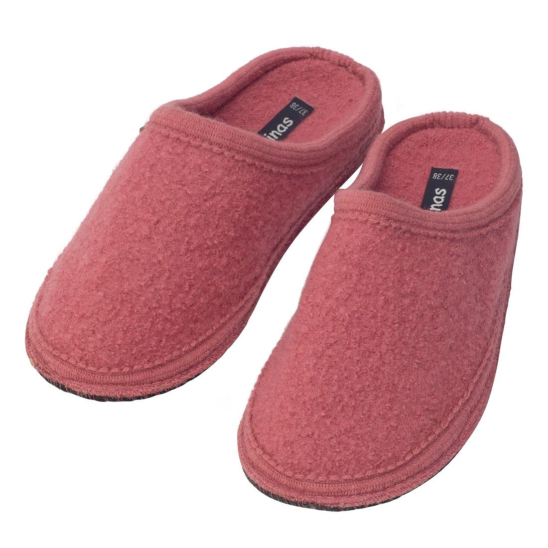 new product ad52a eff44 Hausschuhe - Pantoffeln aus gewalkter Schafwolle Altrosa